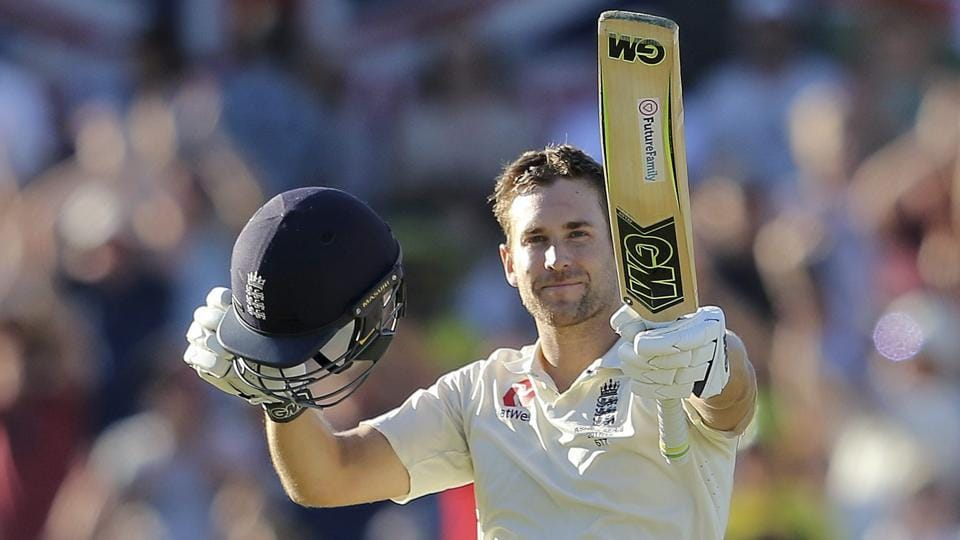 England's Dawid Malan celebrates scoring a century against Australia during the 3rd Ashes Test match in Perth, Australia on December 14, 2017.
