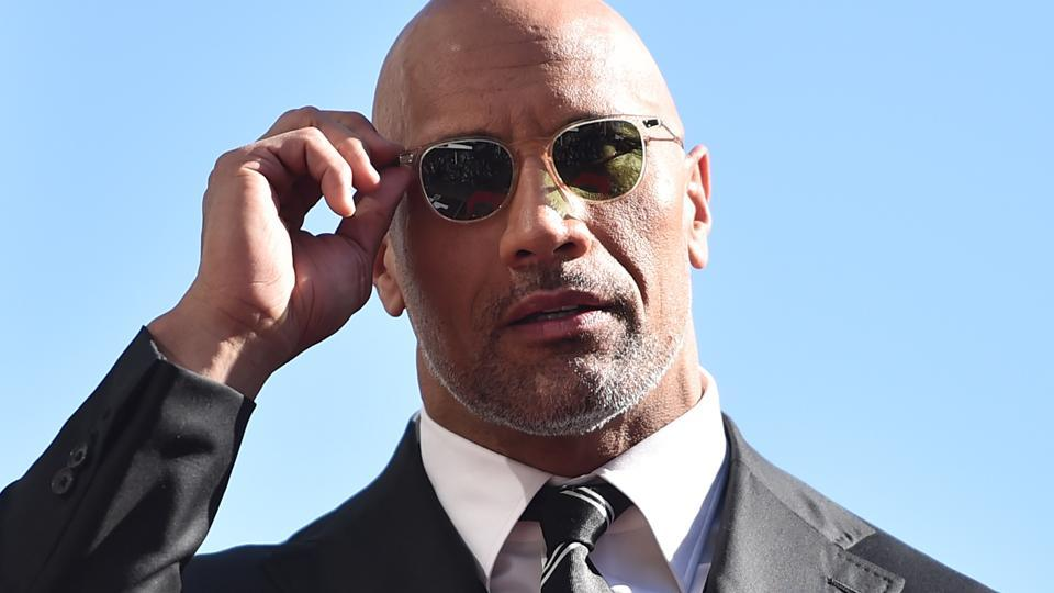 Actor Dwayne Johnson attends a ceremony honouring him with the 2,624th star on the Hollywood Walk of Fame.