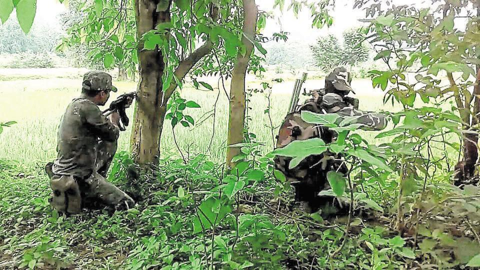 The encounter took place during a combing operation by a special party police in the forests near Bethapud village of Illendu block, following a tip off.