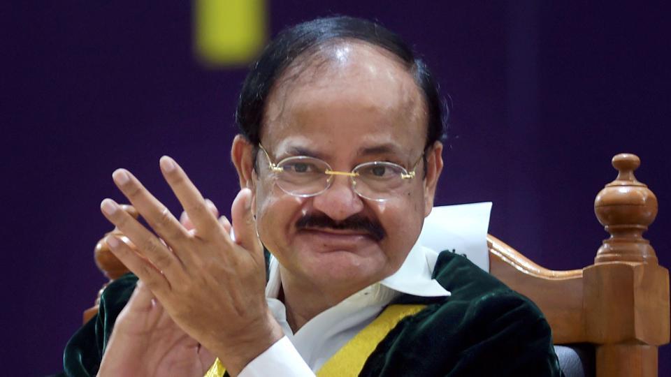 Vice-President Venkaiah Naidu at a convocation at SRM University, near Chennai, Tamil Nadu (File)