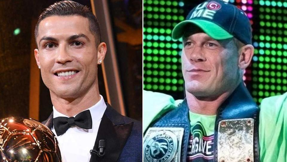 WWE superstar John Cena said Cristiano Ronaldo is his favourite football player during a recent chat show appearance.
