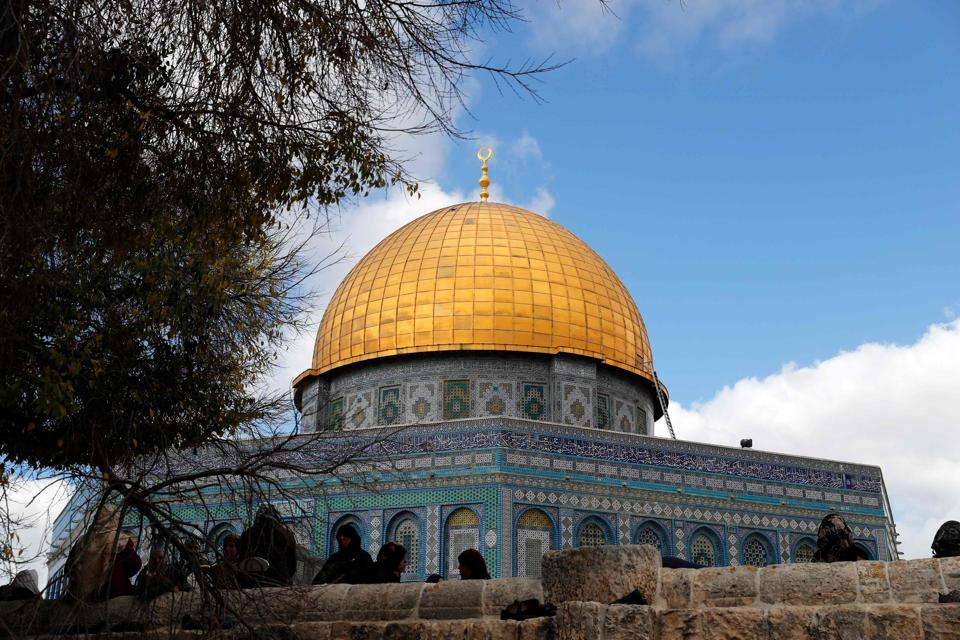 The Dome of the Rock at the Al-Aqsa mosque compound in Jerusalem's Old City.
