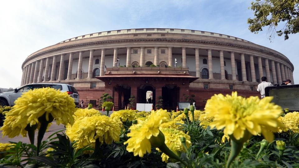A view of the Parliament House on the first day of the winter session in New Delhi on Friday.
