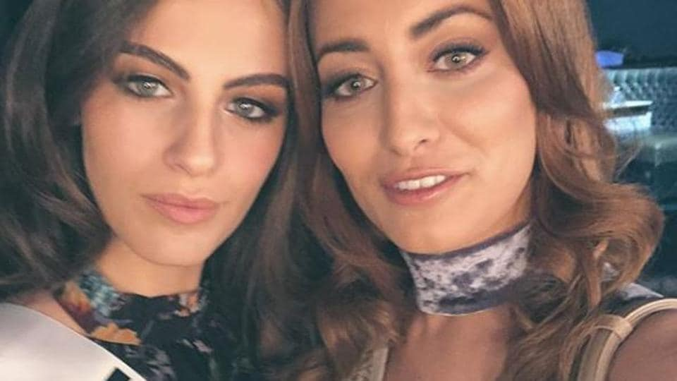 """In Japan for the Miss Universe contest, Idan and the 20-year-old Gandelsman clicked a selfie that was posted on Instagram with the tile, """"Peace and Love from Miss Iraq and Miss Israel""""."""
