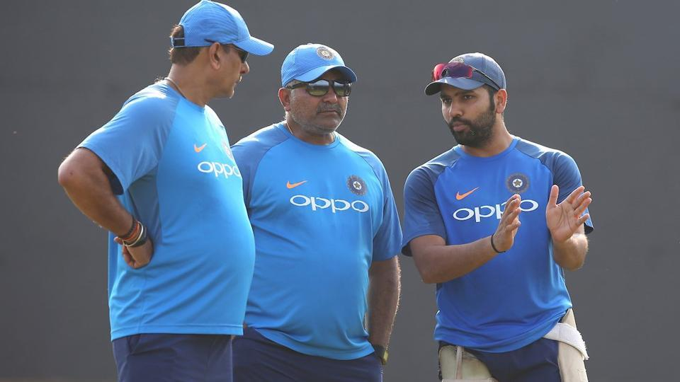 Stand-in India captain Rohit Sharma (R), who hit a double century in Mohali, will look to continue his blistering form in the decider against Sri Lanka at Visakhapatnam. (Twitter )