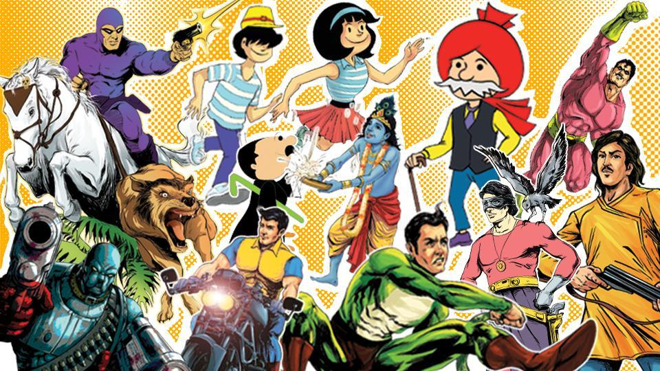 The golden age of  Indian comics was in the mid 1980s, with more than 20 publishers publishing a vivid range of comics.