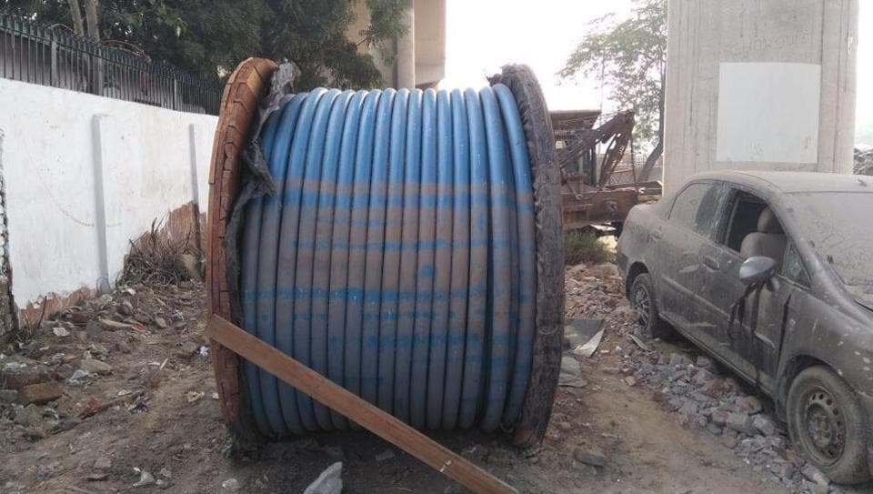 The theft took place at the metro construction site on December 2 and the accused allegedly hired a crane to transport the roll of wire, the police said.
