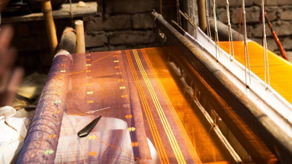 Jamdani is a term normally used for the technique of loom-embroidery wherein discontinuous extra or supplementary weft yarn is woven into the warp threads as per the desired pattern while weaving progresses.