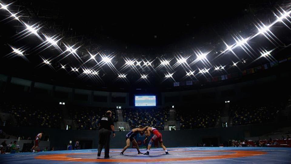 Arena amateur wrestling