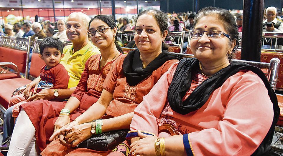 (From left) Avaneesh Kulkarni, Milind Bhide, Purva Kulkarni, Swati Bhide and Anjali Kulkarni at the Sawai music festival.