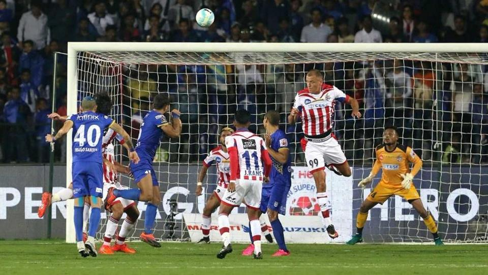 ATK, which came into the match as the bottom-placed team, has now climbed up one spot to seventh.  (ISL)