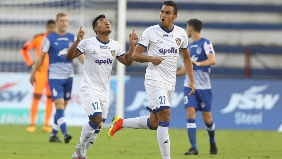 Dhanapal Ganesh helped Chennaiyin FC to pull off a thrilling 2-1 victory over Bengaluru FC.  (ISL)