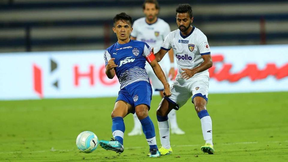 Sunil Chhetri equalised for the hosts in the 85th minute.  (ISL)