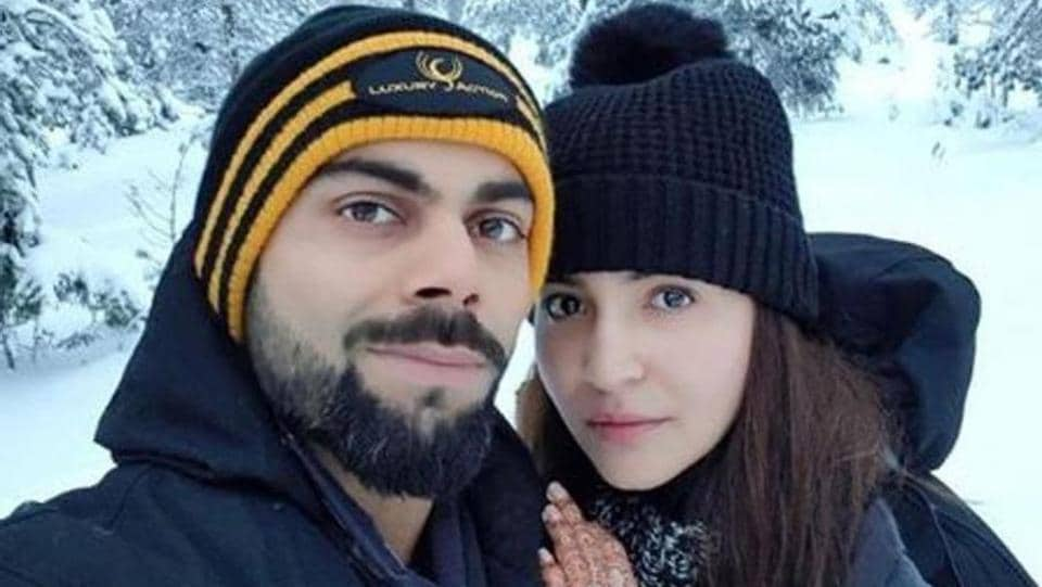 Anushka Sharma and Virat Kohli in  Rovaniemi, Finland, chasing the Northern Lights and spending a cosy, romantic time together.