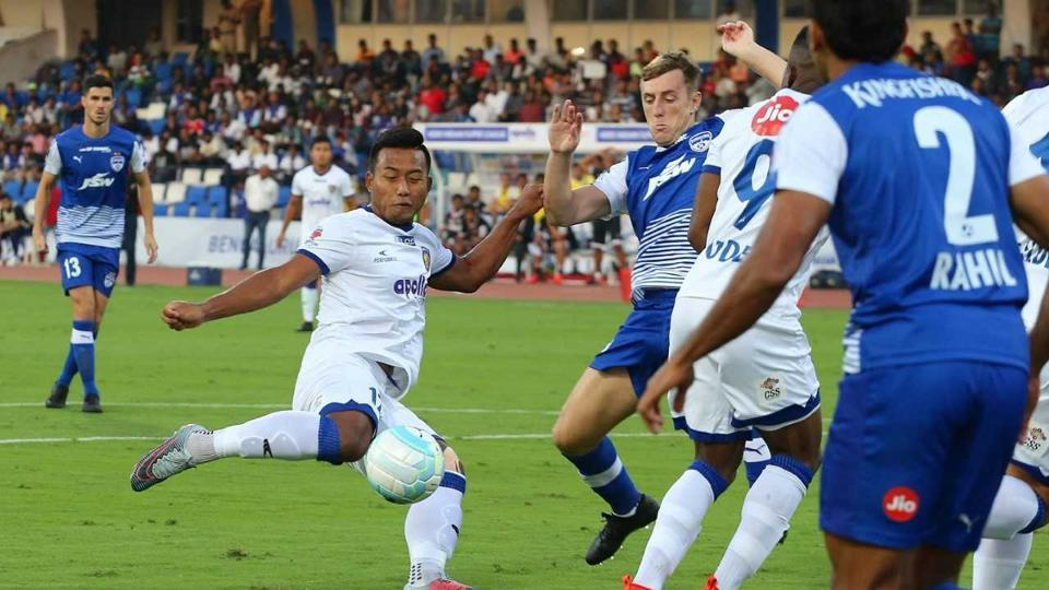 Jeje Lalpekhlua provided Chennaiyin FC with the lead in the fifth minute. (ISL)