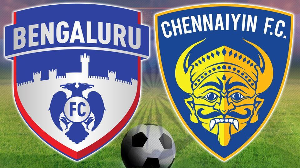 Bengaluru FC lost 2-1 to Chennaiyin FC in their Indian Super League match at the Sree Kranteerava Stadium in Bangalore. Get full score of Bengaluru FC vs Chennaiyin FC here.