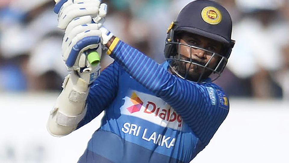Upul Tharanga in action during the India vs Sri Lanka 3rd ODIencounter in Visakhapatnam on Sunday.