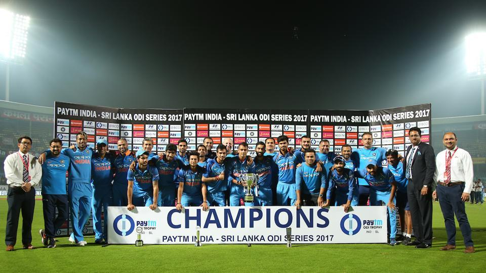 Shikhar Dhawan's 12th century helped India beat Sri Lanka by eight wickets to win the three-ODI series 2-1. (BCCI )