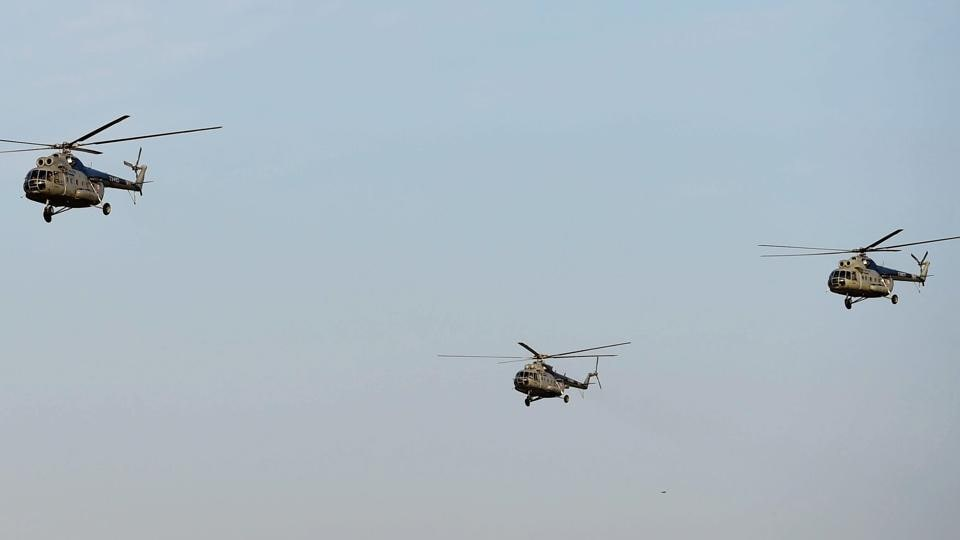 Indian air force,MI-8 helicopter,Soviet era helicopter
