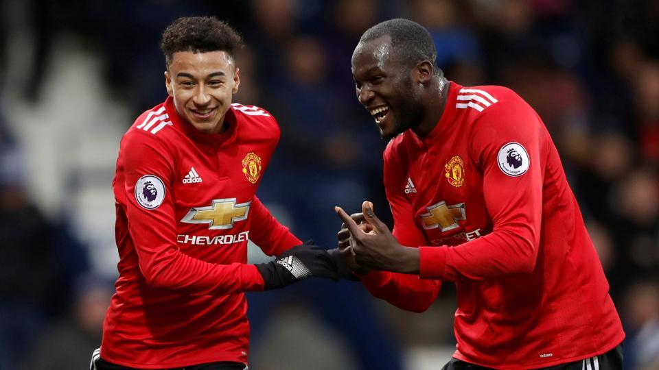 Manchester United beat West Bromwich Albion 2-1 in the Premier League at the Hawthorns in West Bromwich thanks to goals from Jesse Lingard and Romelu Lukaku.