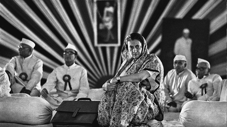 """Indira Gandhi at a Congress party session in Delhi,1967. """"Reluctant, diffident and unsure is how I remember Indira Gandhi when she first became Prime Minister in 1966,"""" wrote Raghu Rai of their first encounter.  (Raghu Rai / Magnum Photos)"""