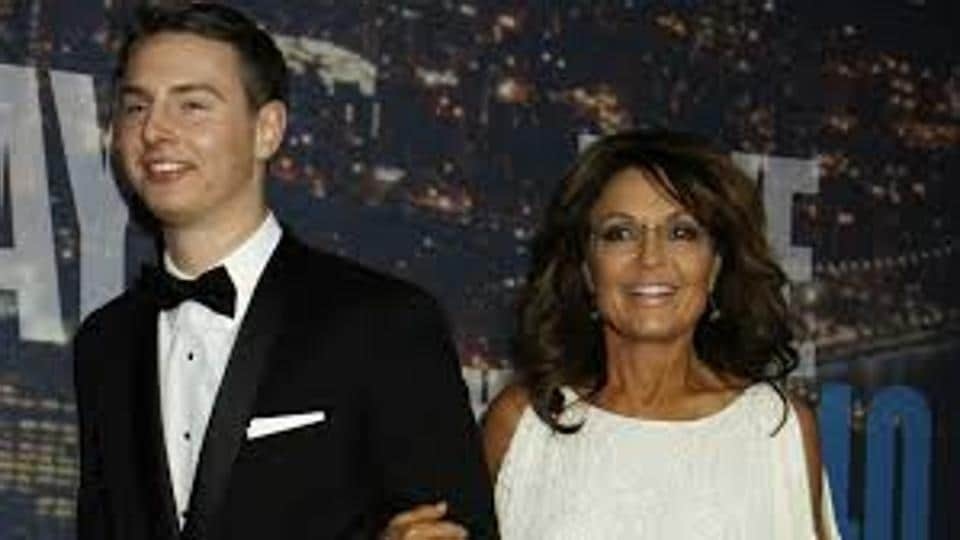The elder son of former Republican vice presidential nominee Sarah Palin was in jail on Sunday.