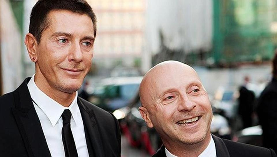 Gabbana(left)  launched the luxury fashion label in 1984 with his partner Domenico Dolce, and although they separated in 2004, the couple continued to work together.