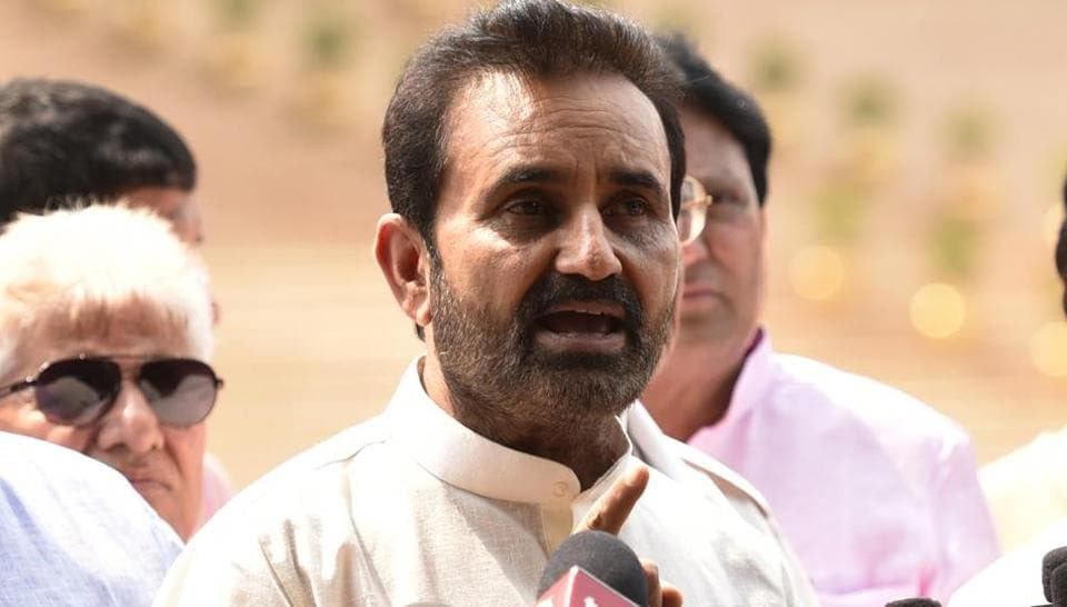 Gujarat Congress leader Shaktisinh Gohil lost the assembly electionfrom Mandvi in Kutch. (HTFile Photo)