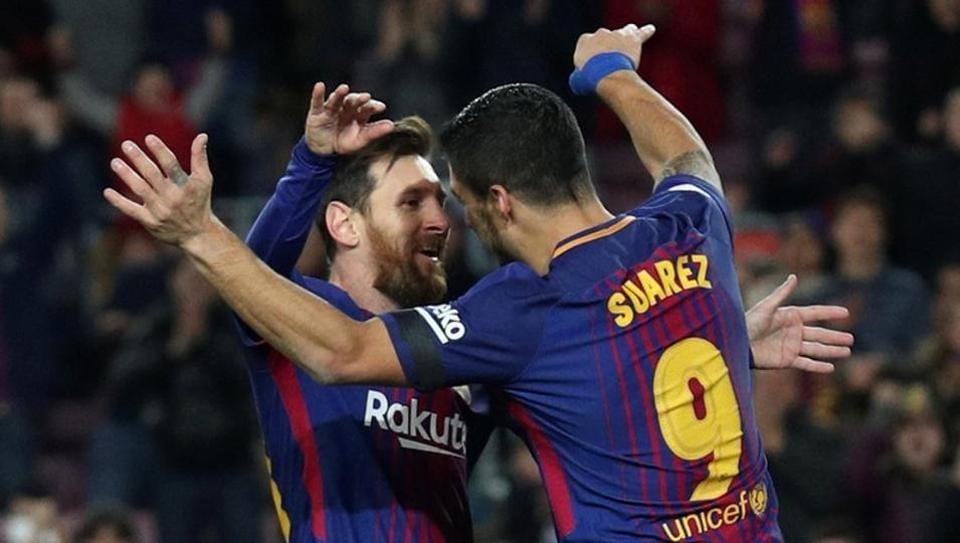 Barcelona thrashed Deportivo la Coruna 4-0 on Sunday.