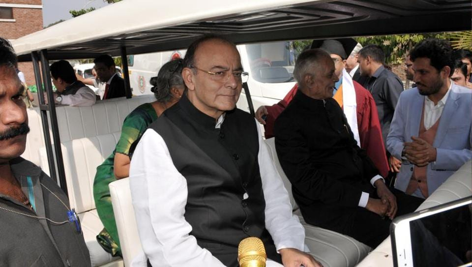 Union finance minister Arun Jaitley was present at the 14th convocation ceremony at the Symbiosis International (Deemed University), Lavale on Sunday in Pune.