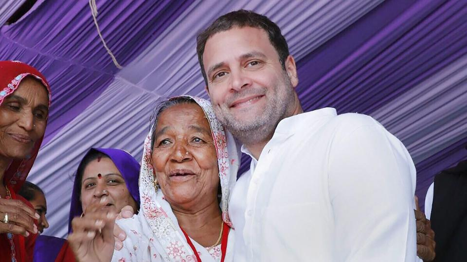 Congress president Rahul Gandhi during a public meeting in Banaskantha, Gujarat. He was unwavering in his efforts to take the BJP on by asking tough and uncomfortable questions.