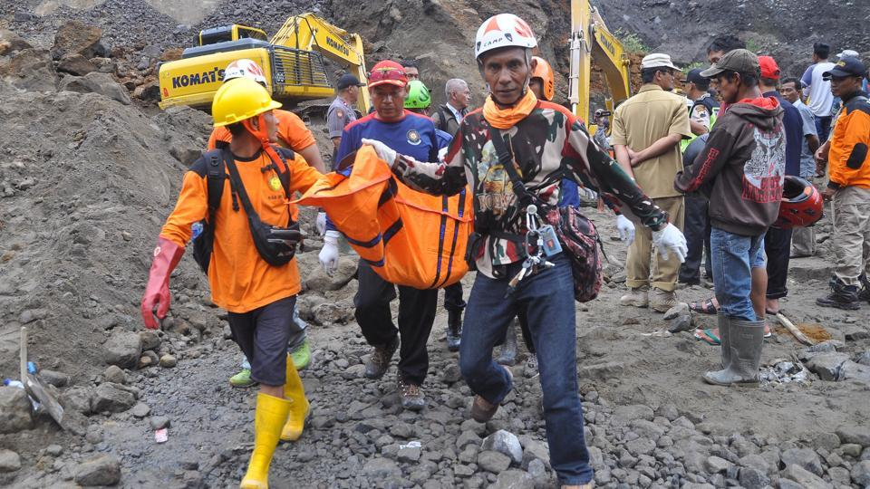 Indonesia,Indonesia landslide,Volcano