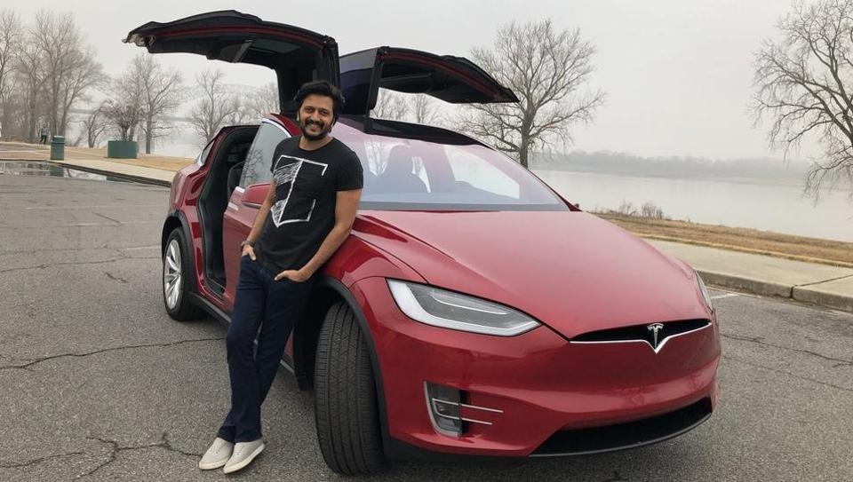 Genelia gifts a Tesla SUV to birthday boy Riteish Deshmukh ...