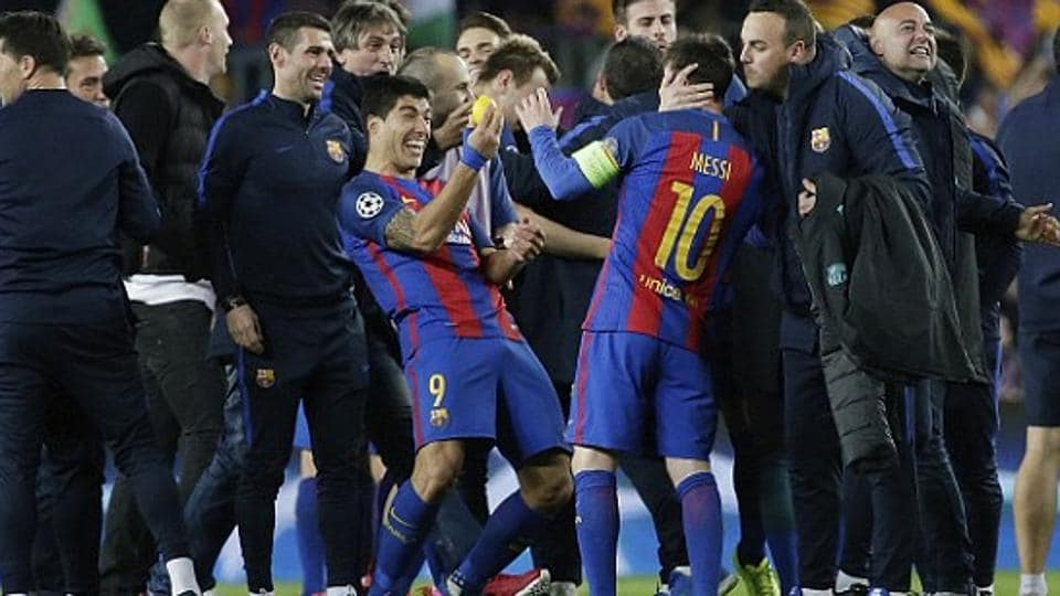 FC Barcelona Defeated Paris Saint Germain 5 1 In The Second Leg To Complete