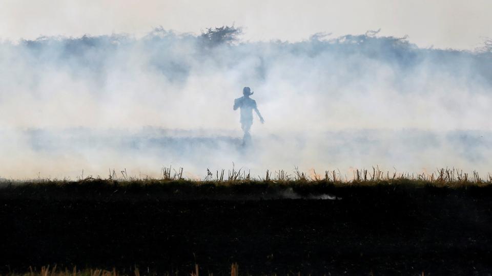 Stubble burning,Kharif season,Rabi crops
