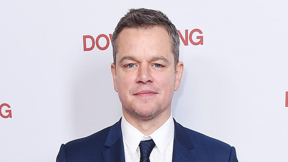 Actor Matt Damon attends the New York screening of Downsizing at AMC Lincoln Square Theatre.