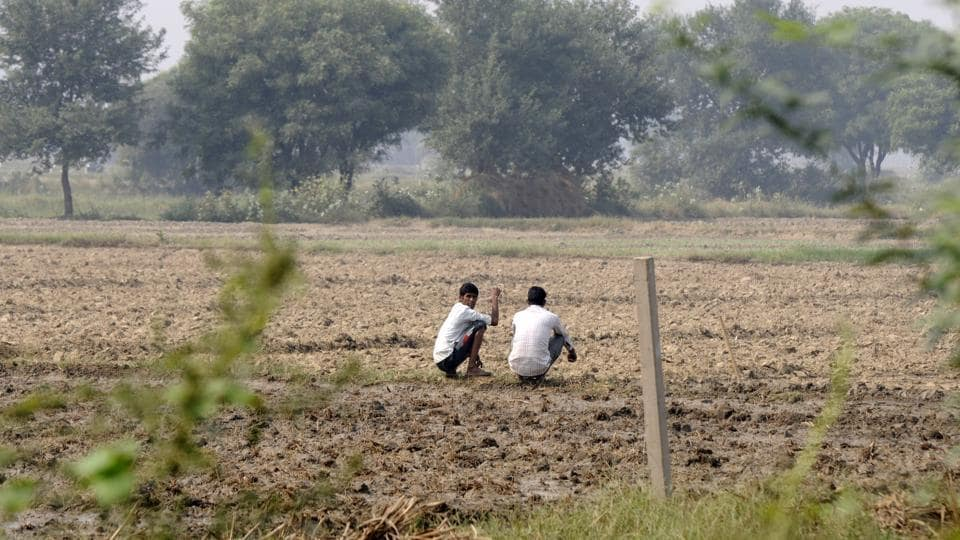 Land for proposed international airport project in Jewar in Greater Noida.