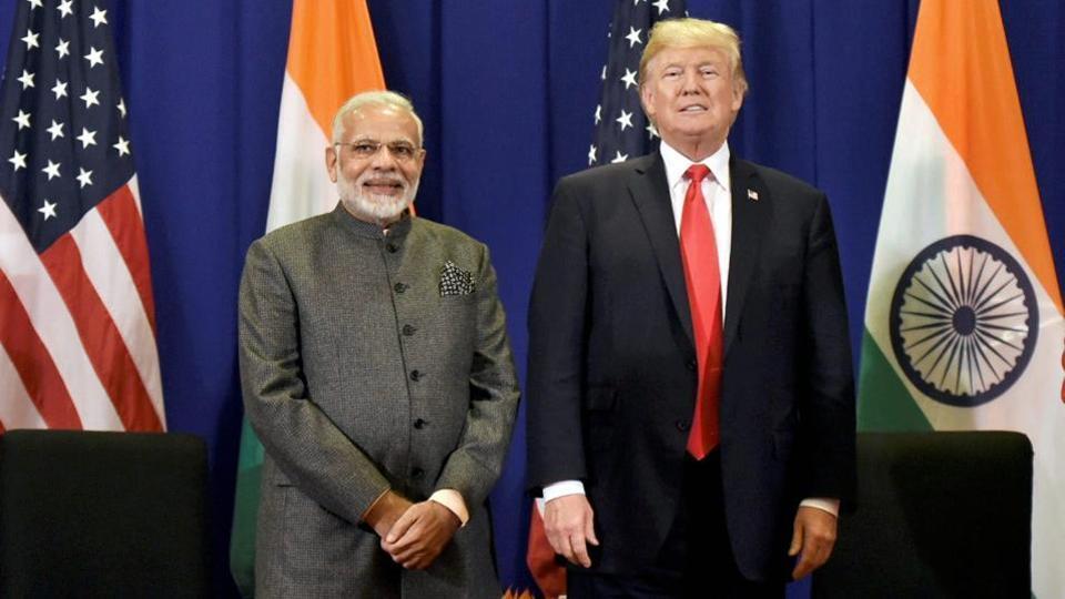 Prime Minister Narendra Modi meets USPresident Donald Trump in Manila, Philippines.