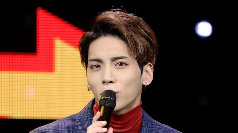This undated picture released by Yonhap news agency in Seoul on December 18, 2017 shows Kim Jong-Hyun, singer of popular K-pop group SHINee.