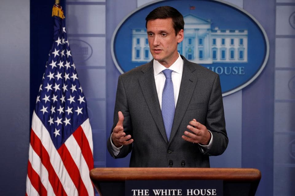 FILE PHOTO: White House Homeland Security Advisor Tom Bossert speaks to reporters about the global WannaCry