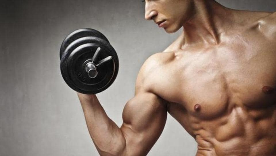 Men are able to build muscle mass because of the male sex hormone, testosterone.