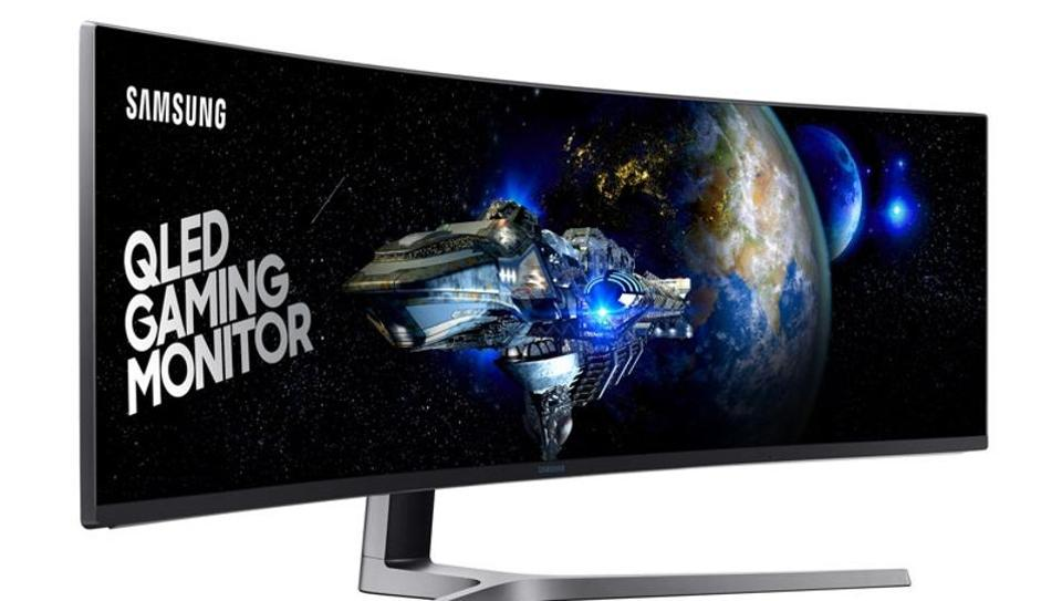 Samsung,Samsung Curved Monitor,Biggest QLED Curved Monitor