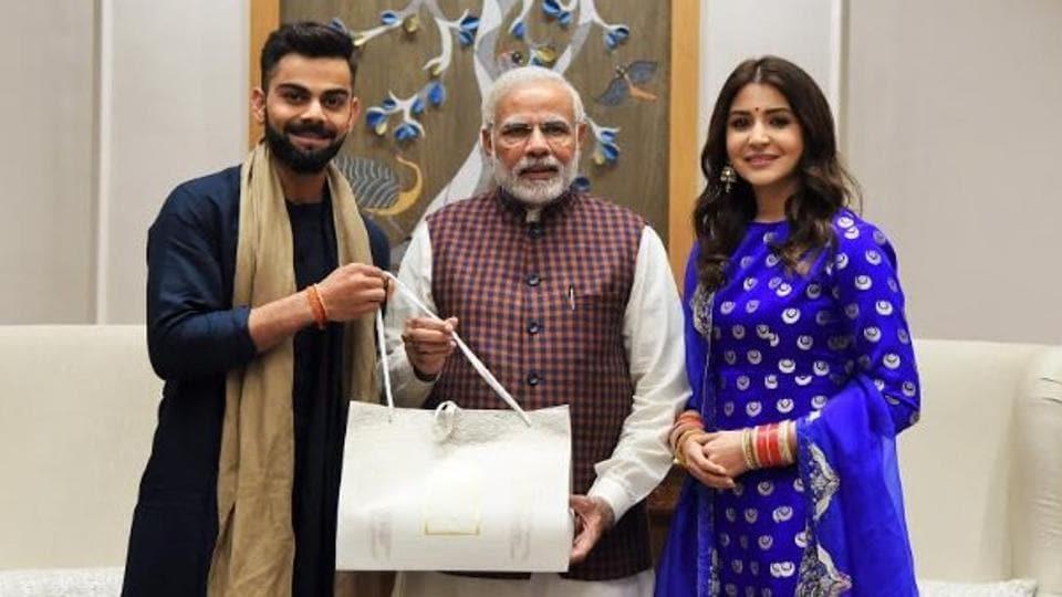 Indian cricket captain Virat Kohli and his Bollywood star wife Anushka Sharma met Prime Minister Narendra Modi in New Delhi on Wednesday.