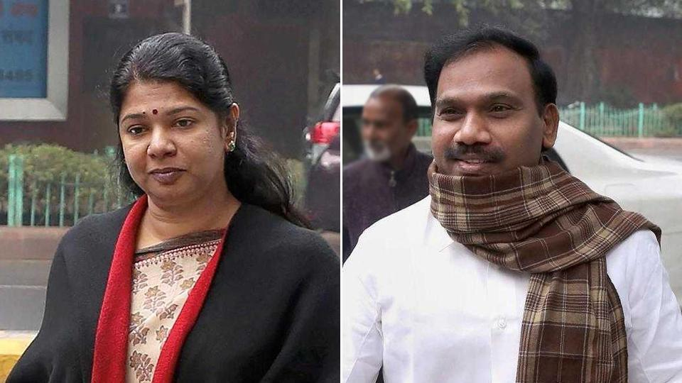 Former minister A Raja, and DMK leader Kanimozhi are accused in the 2G spectrum case. (PTIphotos)