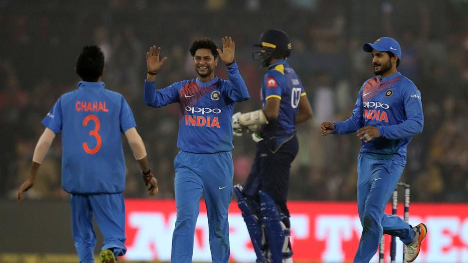 Kuldeep Yadav kept things tight and took two important wickets of Kusal Perera and Dasun Shanaka.  (BCCI )