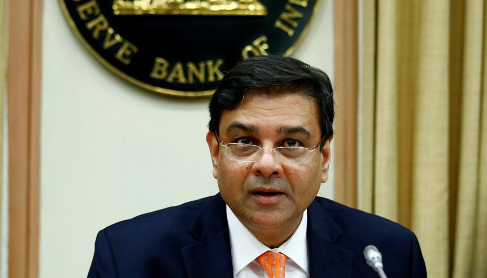 RBI governor Urjit Patel at a news conference in Mumbai.