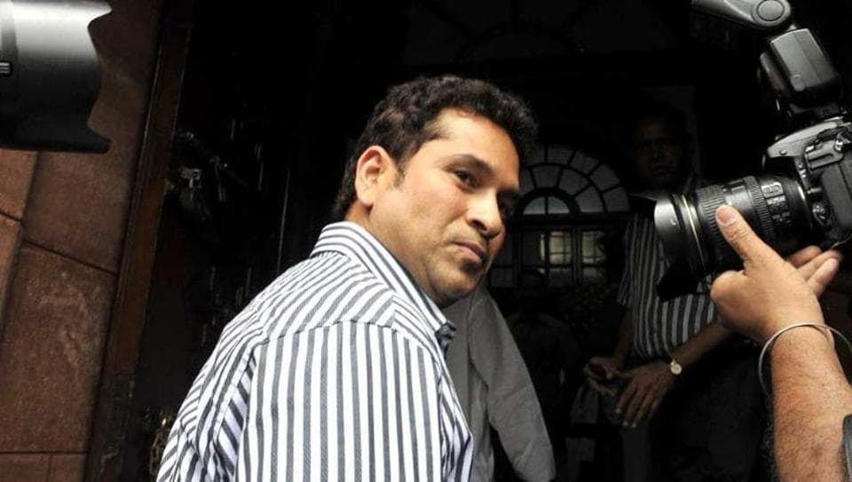 Cong disrupts Sachin's first speech in RS
