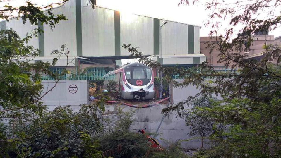 Delhi Metro,Magenta Line,Magenta Line metro trial run