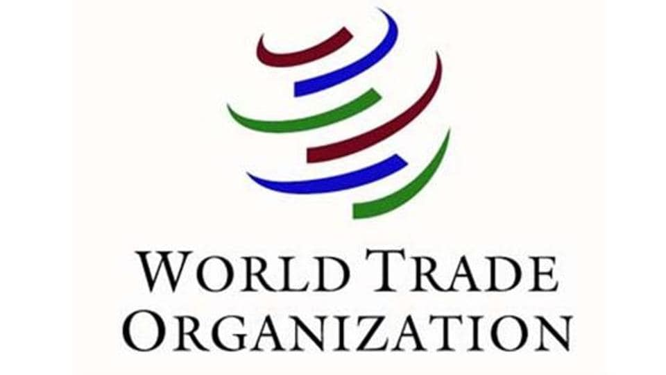 Logo of the World Trade Organization (WTO), that deals with the global rules of trade between nations.