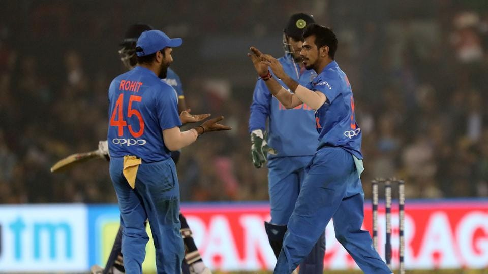 The leggie took his third after Asela Gunaratne (4) was stumped by Dhoni before finishing his quota with the wicket of Sri Lanka skipper Thisara Perera. (BCCI )
